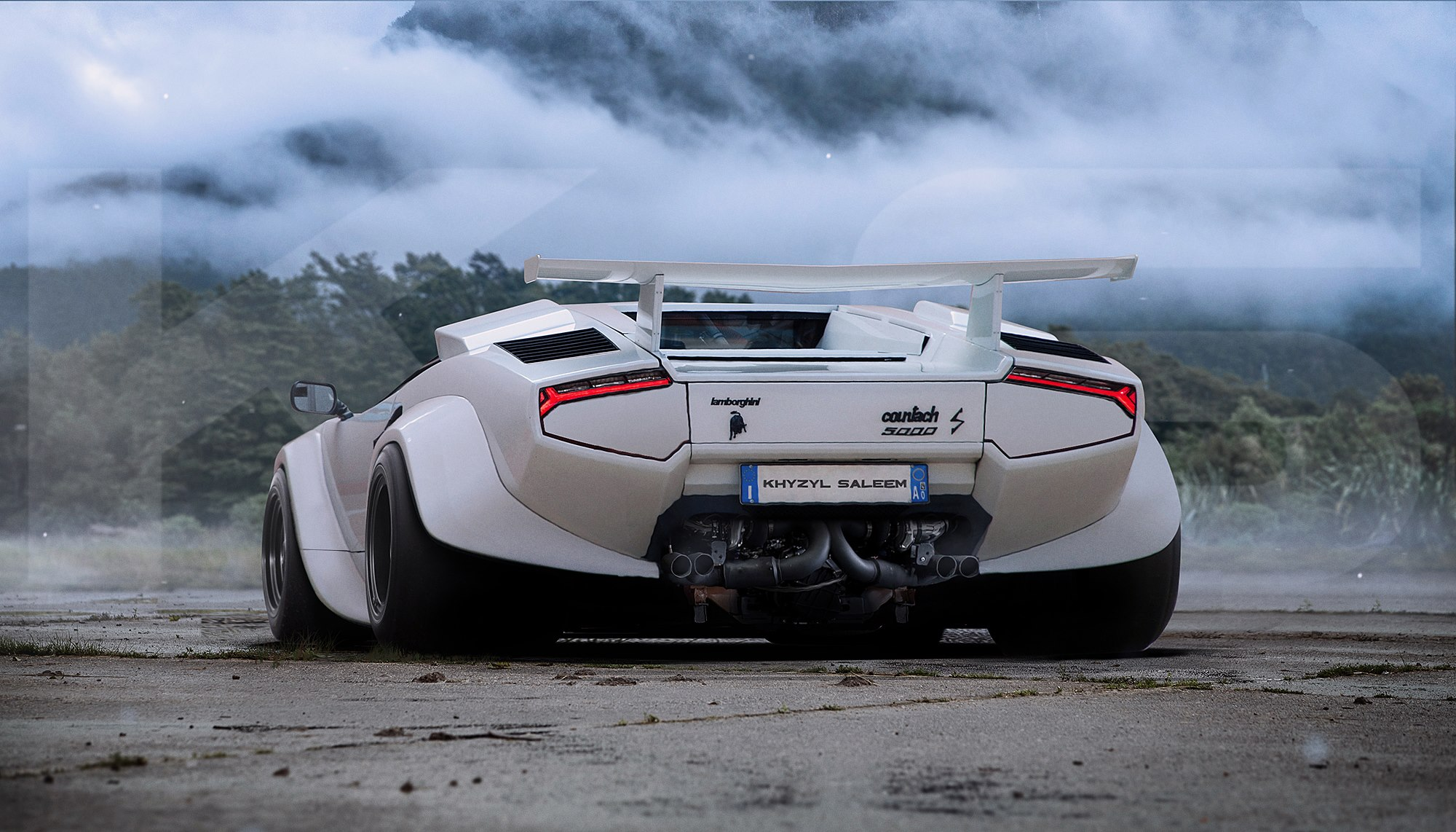 Lamborghini Countach with Hurricane Taillights