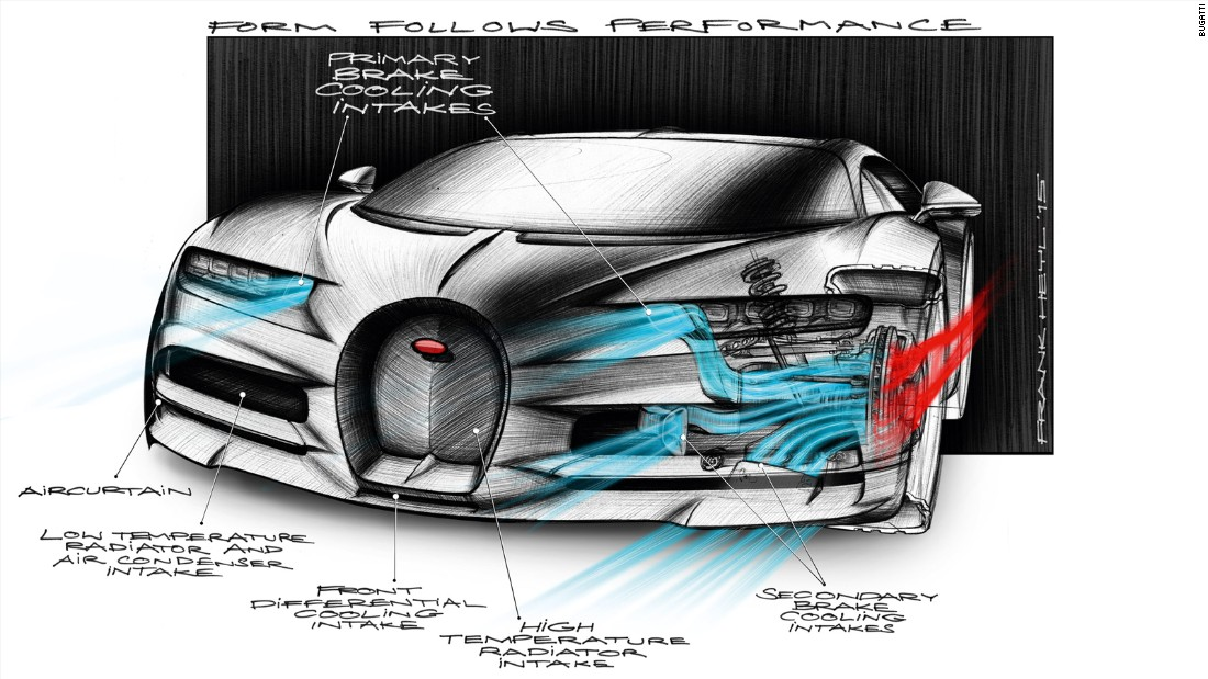 Bugatti Chiron Facts - Air system