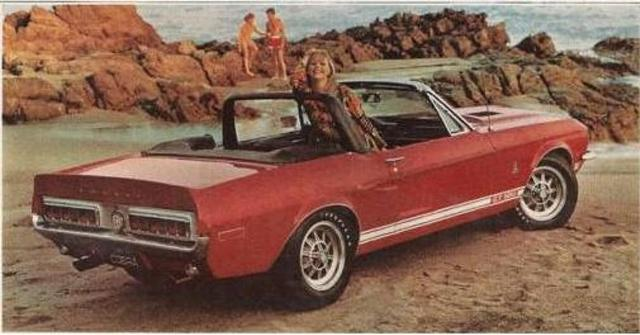 Convertible Muscle Cars - Shelby Mustang
