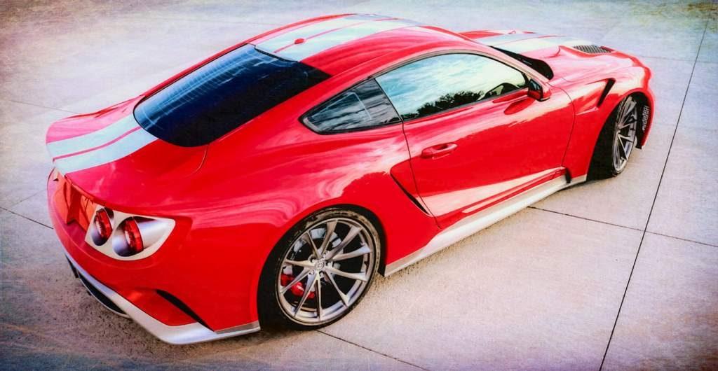 Mustang GTT Rear 3/4