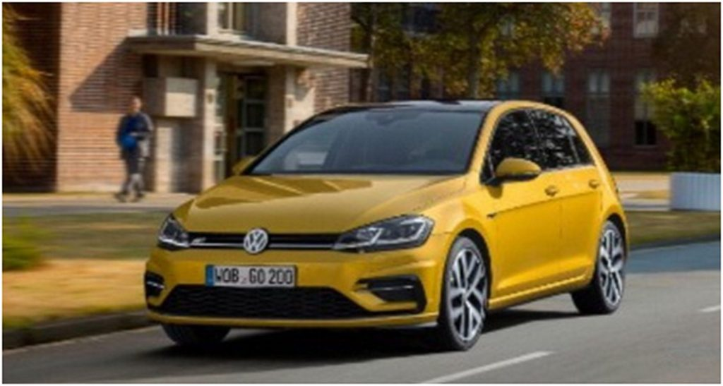 Yellow Golf GTI Front 3/4