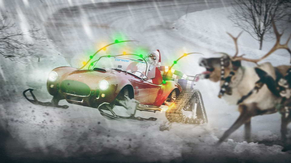 Santa Claus Sleigh - Track And Ski Fitted Shelby Cobra