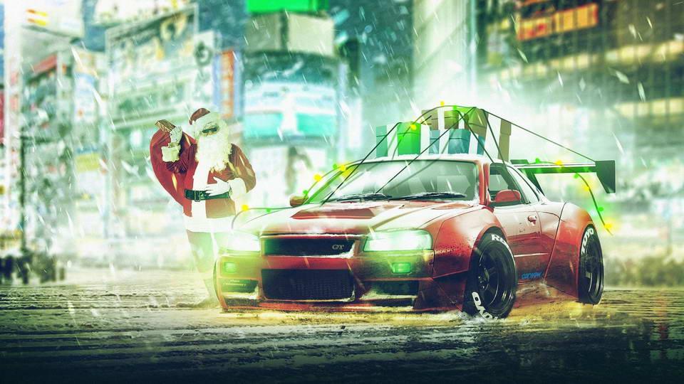 The Ultimate Santa Sleigh - GT-R R34
