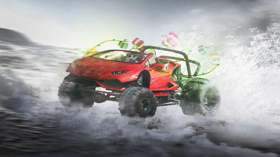 Lamborghini Huracan Christmas Style