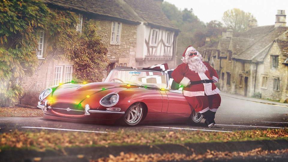 Santa Car - Jaguar E-Type For The Countryside
