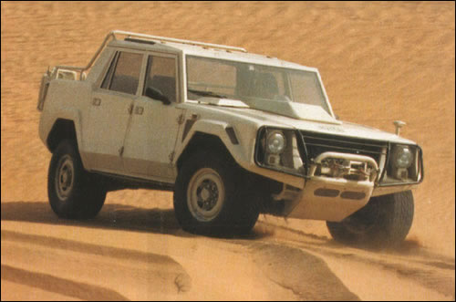The LAMBORGHINI LM002 was originally intended as a military vehicle
