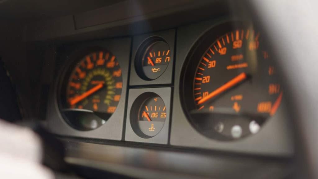Miami Vice car for sale gauges