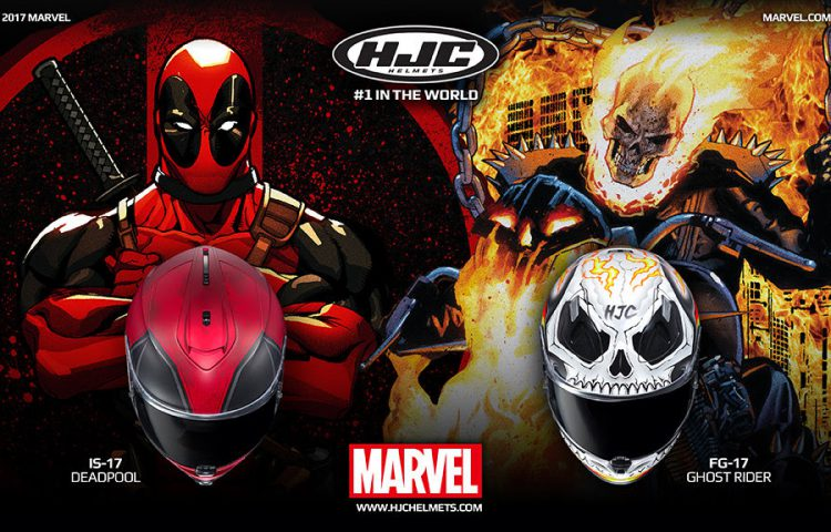 Ghost Rider & Deadpool Motorcycle Helmet 1