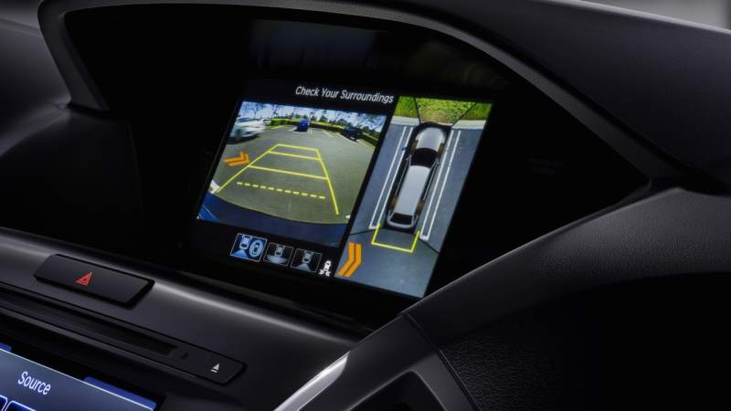 Acura MDX Hybrid Safety Features Display