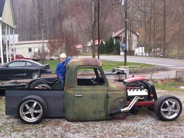This Ford Mustang has been  transformed into a modern day rat rod!