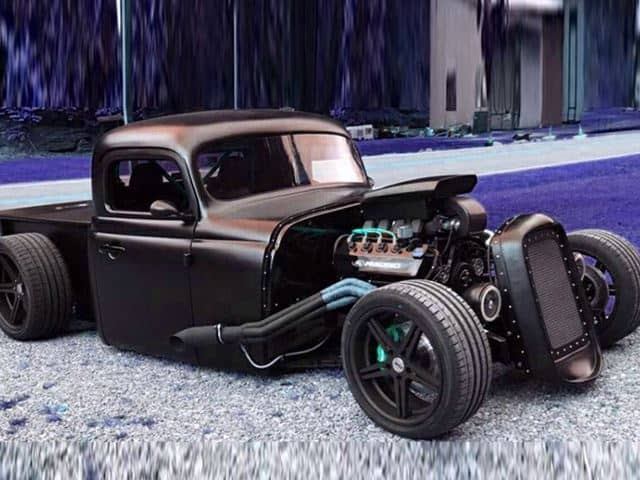 Rat Rod made from a wrecked Mustang