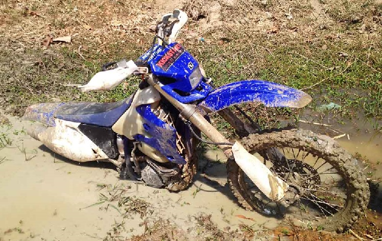 Bike Stuck In The Mud
