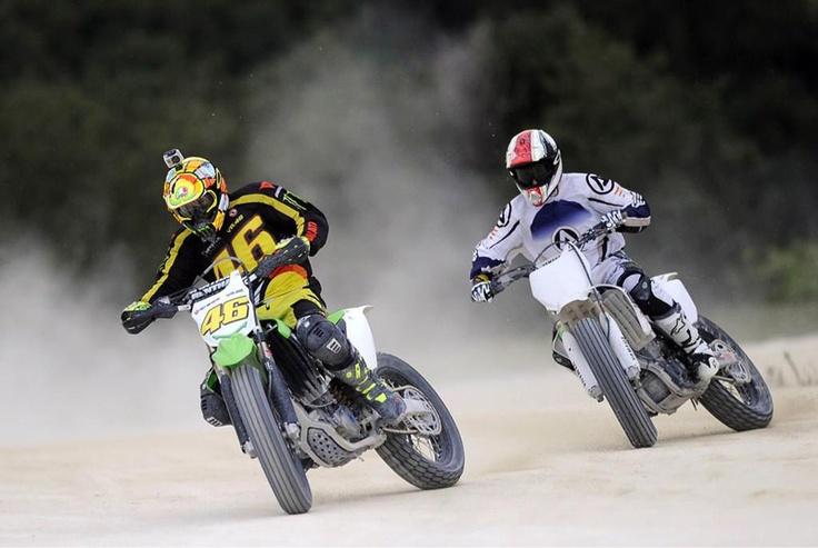 Valentino Rossi Riding Dirt Track