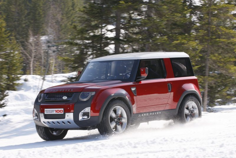 Land Rover Defender prototype side view