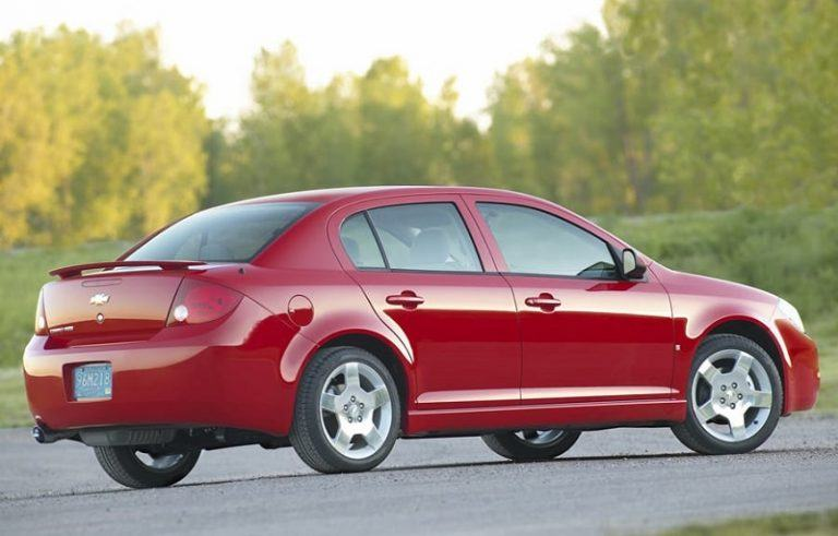A red Chevrolet Cobalt