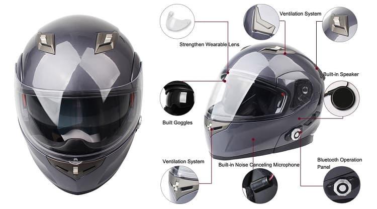 Best Bluetooth Motorcycle Helmet - Freedconn BM2-S
