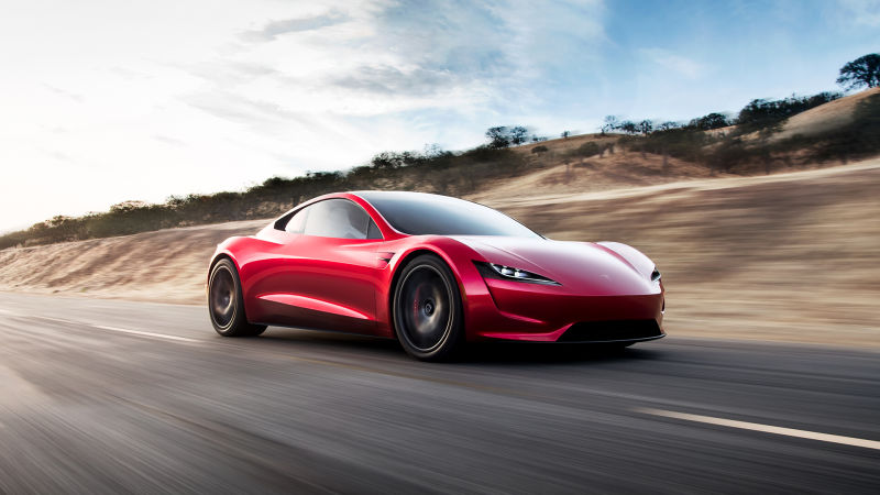Most Fastest Car In The World - Tesla Roadster