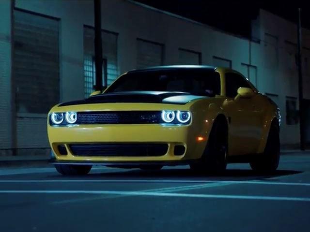 Yellow Dodge Challenger Demon Pennzoil 2