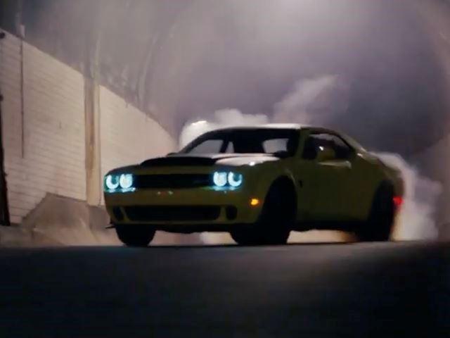 Yellow Dodge Challenger Demon Pennzoil