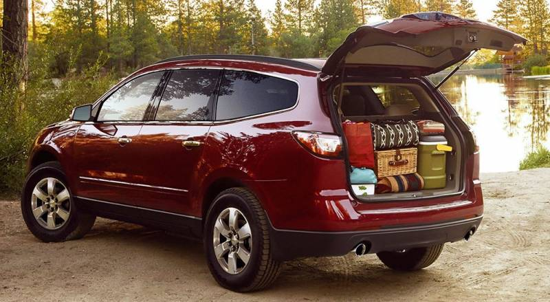The Chevrolet Traverse is a spacious 8 passenger vehicle