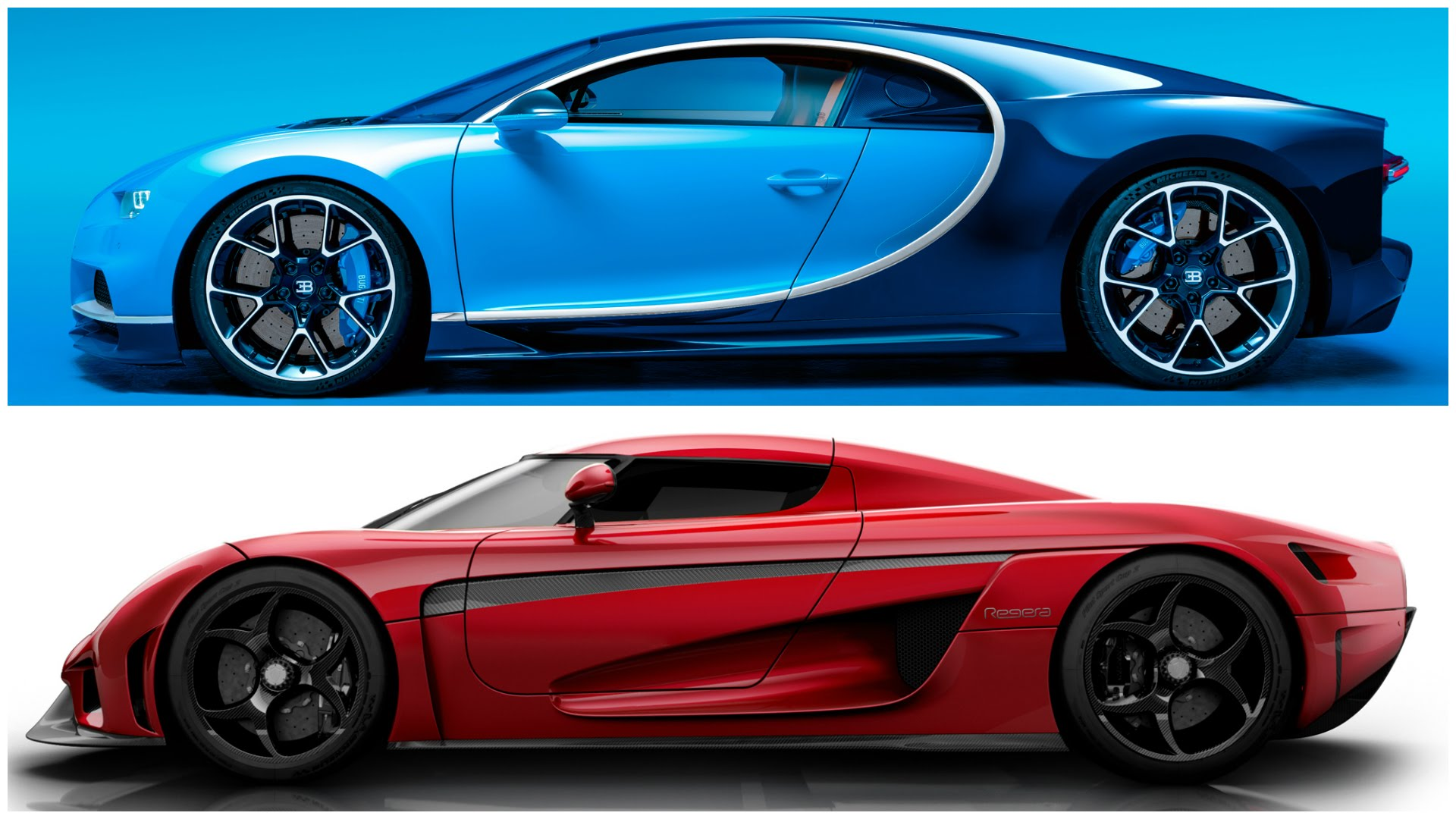 Supecars Bugatti Chiron Vs Koenigsegg Regera