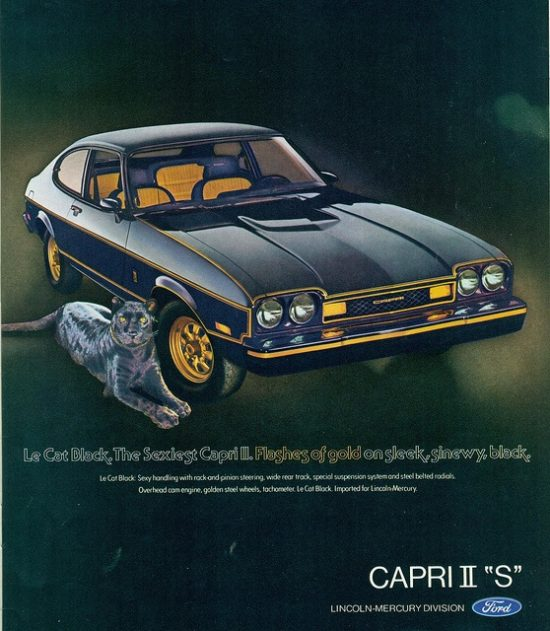 Forgotten Classic Mercury Cars - 1977 Capri Le Cat Black S