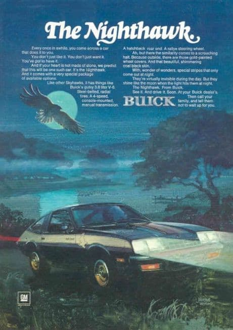 Old Buick Models - 1979-1980 Century Turbo Coupe Advert