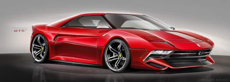modern Ferrari 288 GTO