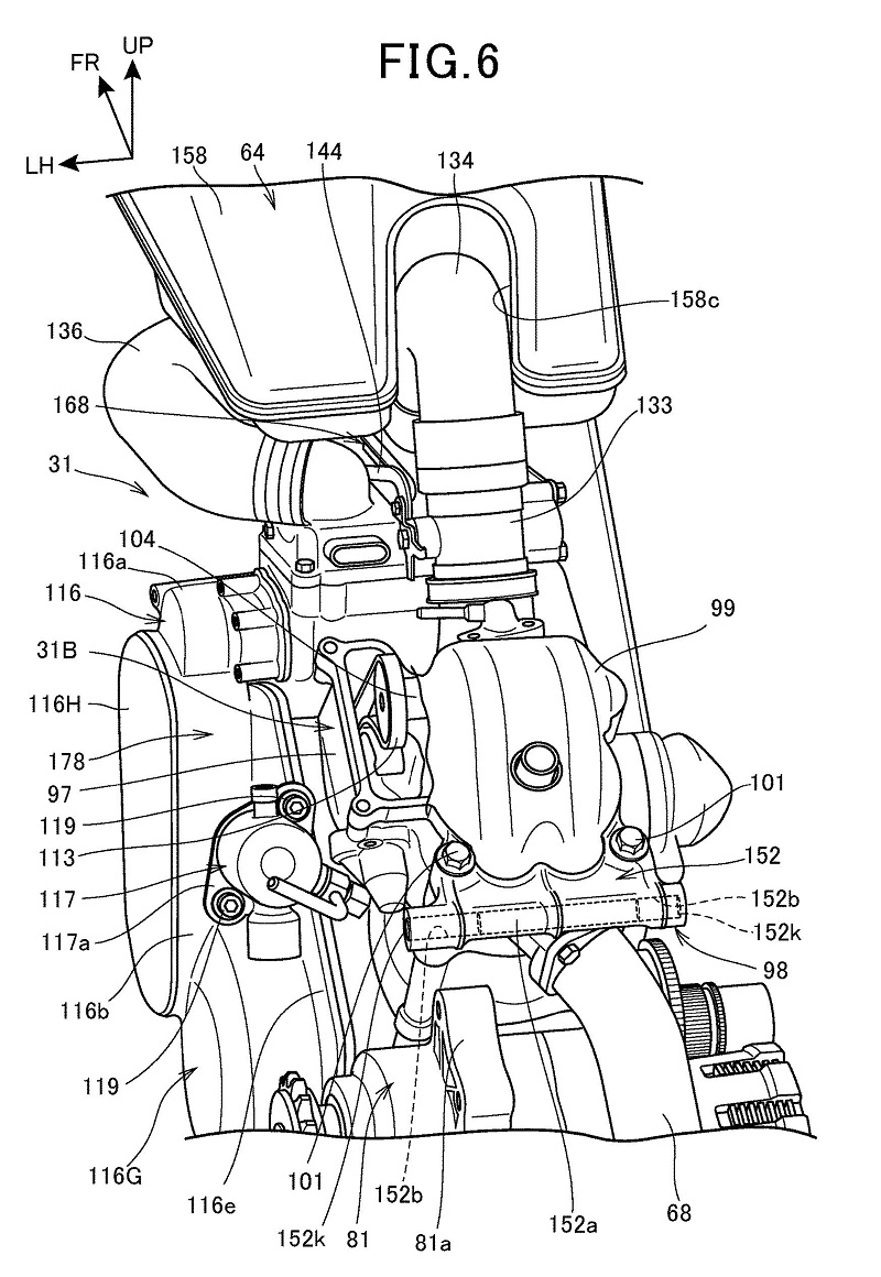 Honda Supercharged V-Twin Patent 2