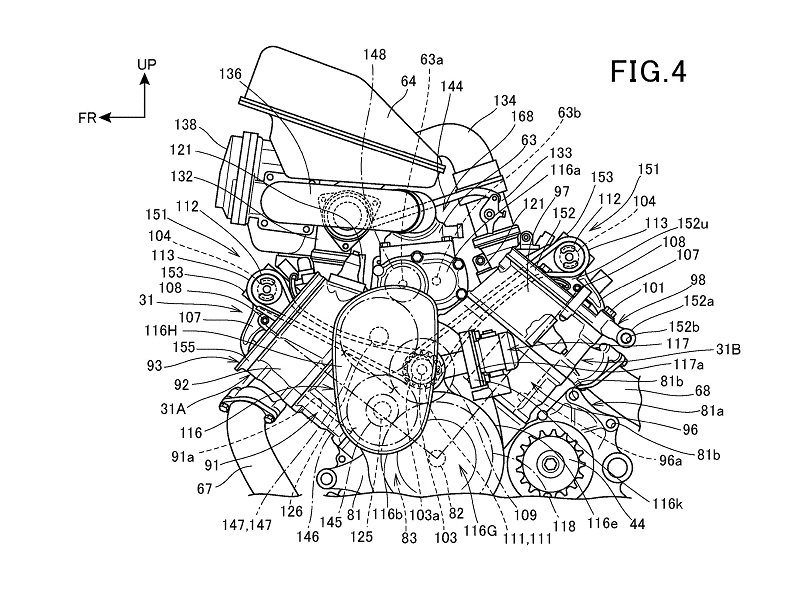 Honda Supercharged V-Twin Patent 3