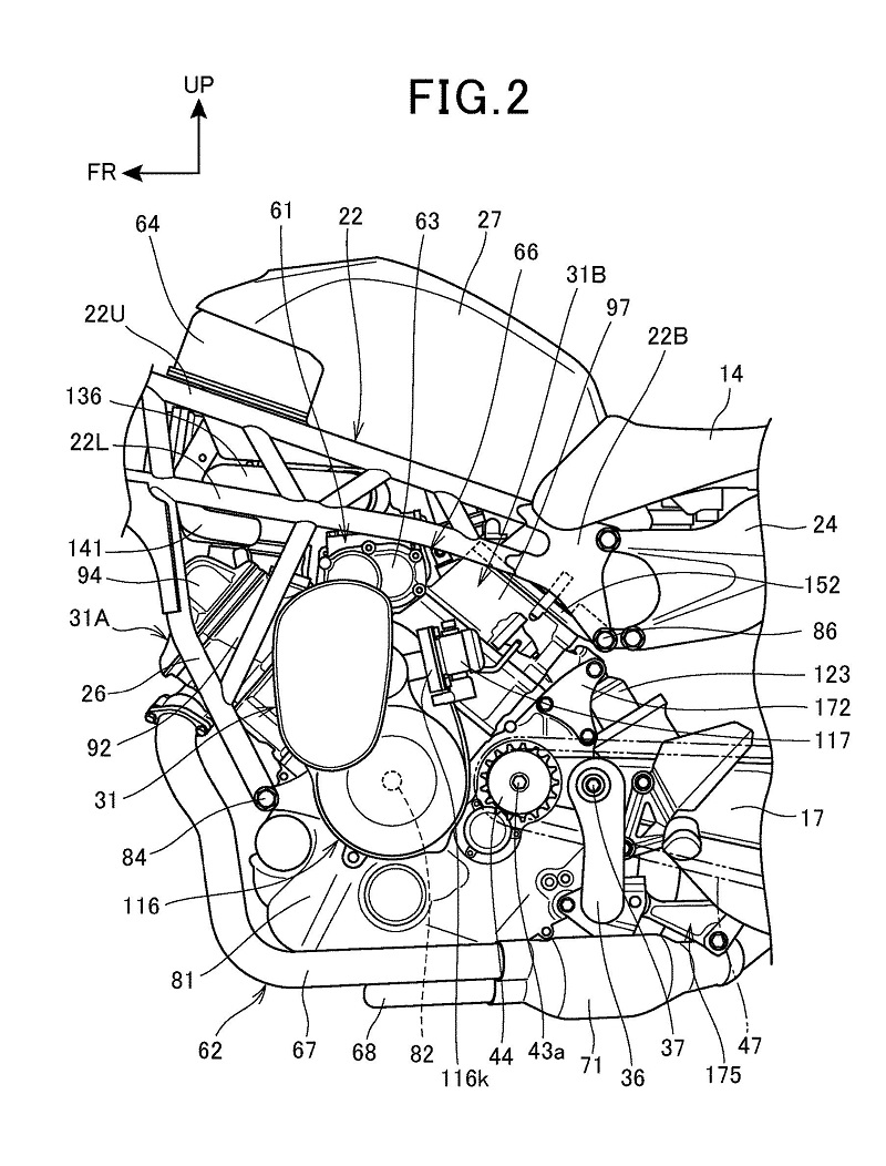 Honda Supercharged V-Twin Patent 5