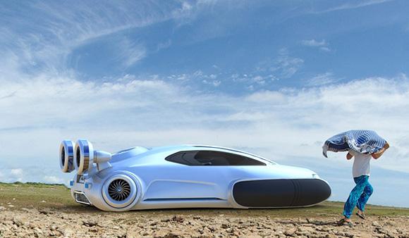 Electric Concept Cars - Volkswagen Aqua Curvy Hovercraft Profile