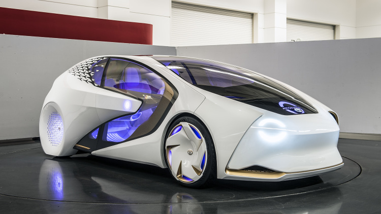 Electric Concept Cars - Toyota Concept-i Front 3/4