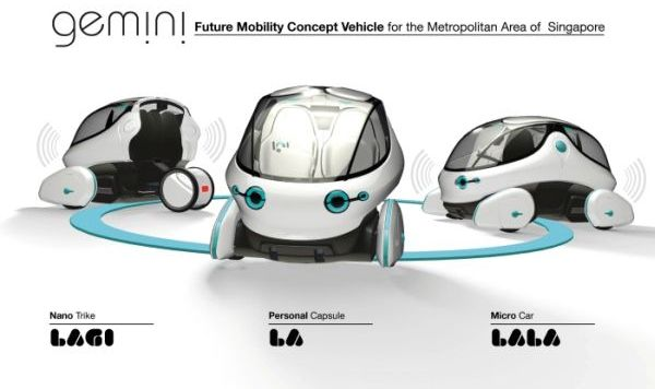 Electric Concept Cars - Gemini Combining Car Lagi, La, & Lala