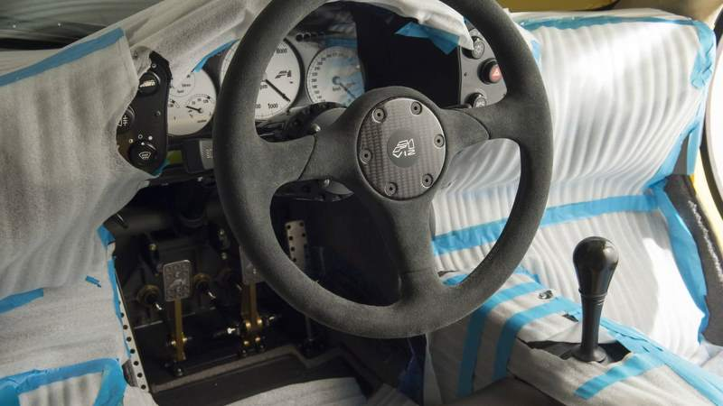 McLaren F1 for sale steering wheel close