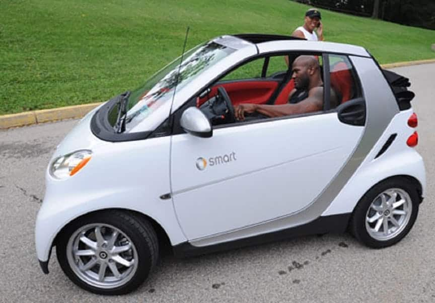 James Harrison and his 2008 Smart Fortwo
