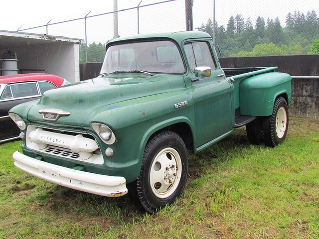 Our history of the Dodge dually includes the 1955 C-series Dodge dually.