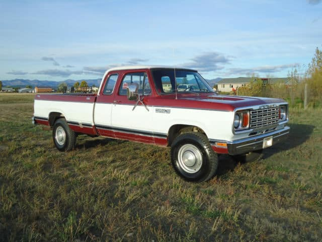 Our history of the Dodge dually includes the 1979 D-series Dodge dually.