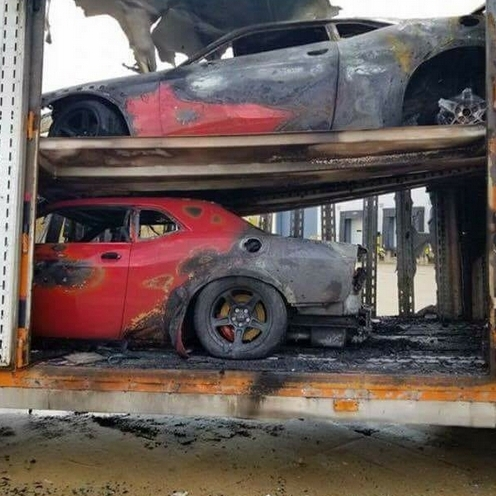 Burned Dodge Demons