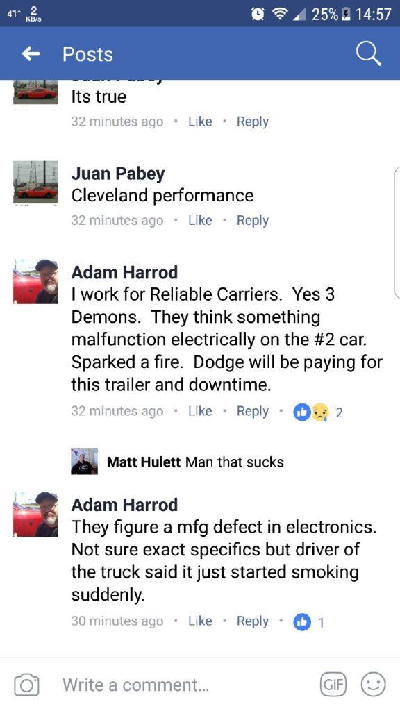 Adam Harrod Comments on Dodge Demon Fire