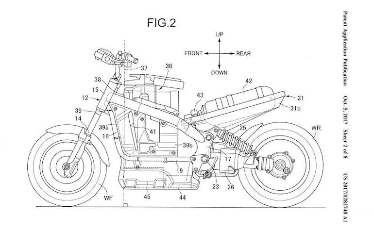 Honda Hydrogen Fuel Cell Motorcycle 1