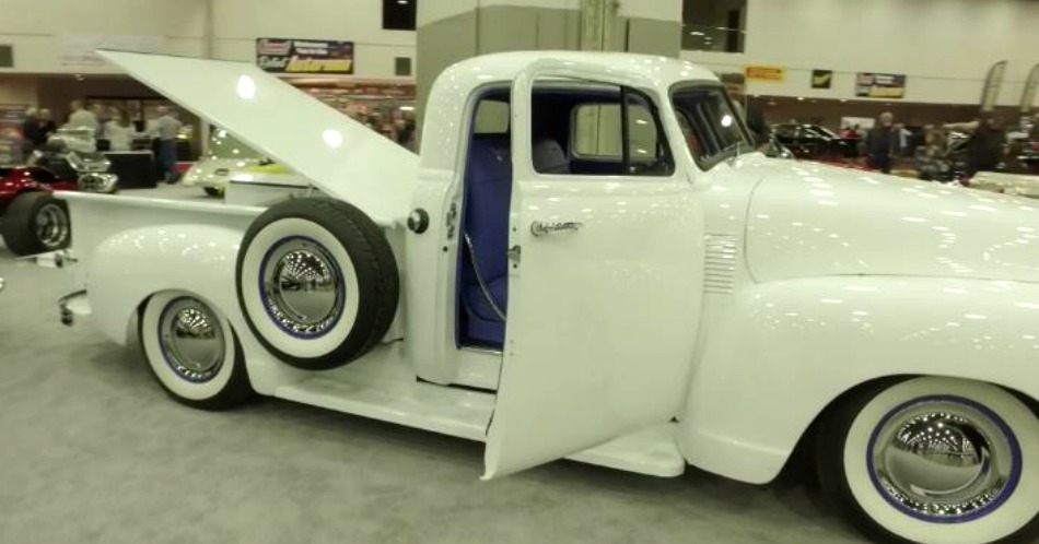 The Blue Goose was built to pull other custom trucks.