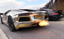 silver and gold lamborghini aventador