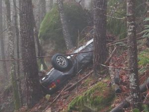 Flipped Over Stolen Porsche Discovered after 27 Years