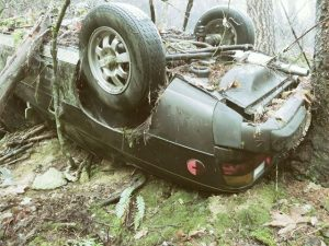 Crashed Porsche Found at Base of Cliff