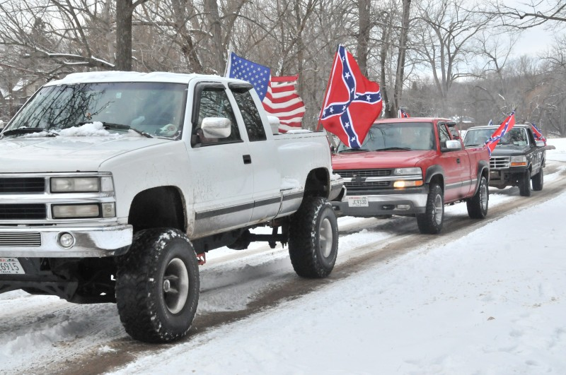 Confederate Flags On Chevy Truck