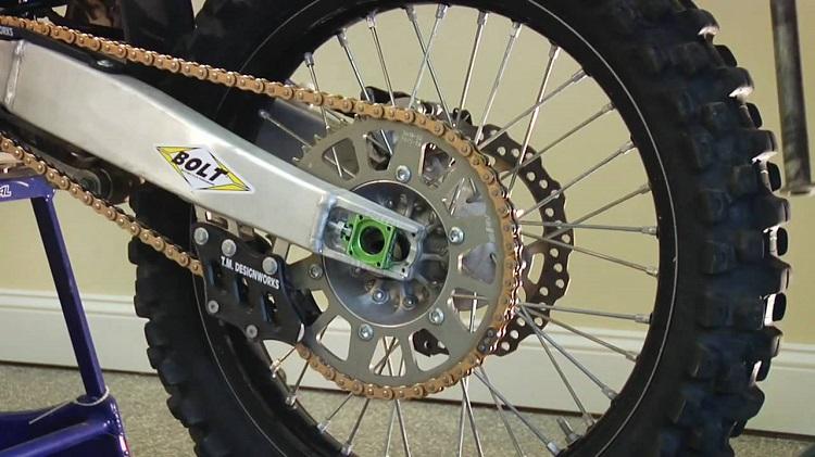 Home Motorcycle Repair - Chain Adjust 1