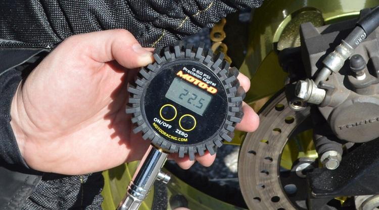 Home Motorcycle Repair -Tire Pressure Gauge