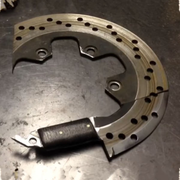 Upcycled Motorcycle Salvage - Disc Brake Knife