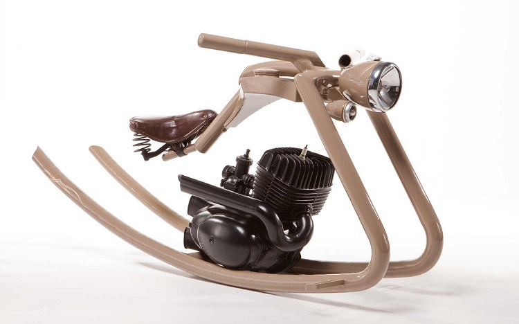 Upcycled Motorcycle Parts - Rocking Horse